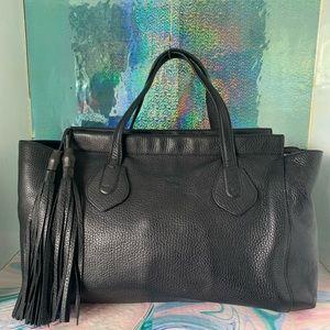 Gucci Leather Lady Tassel Large Satchel